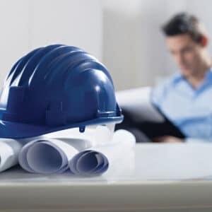 Blue Construction Hat